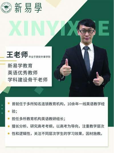 高职高考3+英语优秀教师,学科建设骨干老师-王老师